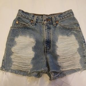 First of a kind Levi's denim shorts high waisted